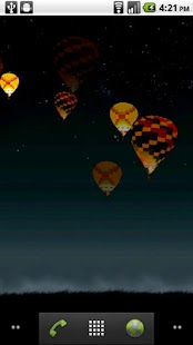 Night Glow Balloons LWP - screenshot thumbnail