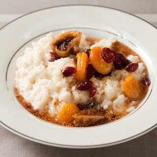 Rice Pudding with Dried Fruit Compote