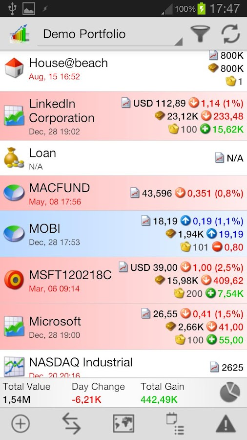 InvestControl - screenshot