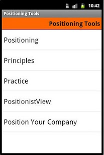Positioning Tools screenshot