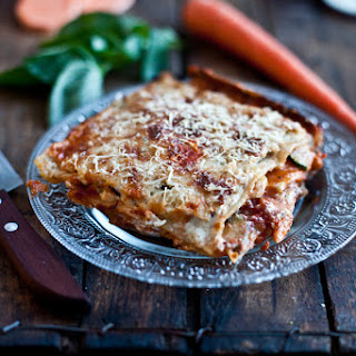 Roasted Vegetable and Goat Cheese Lasagna.