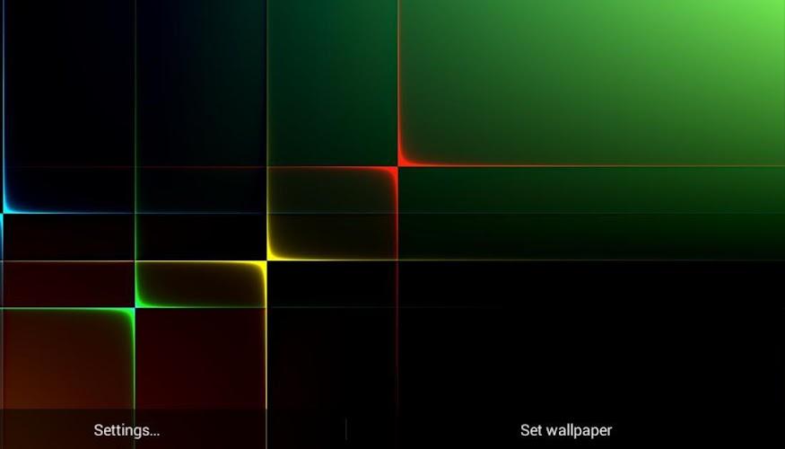 Nexus Neon Grid HD LWP Android App Screenshot
