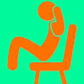 椅子に座って腹筋