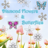 Diamond Flowers & Butterflies