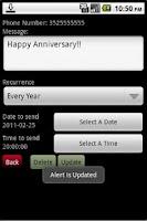 Screenshot of Textalert Plus - SMS Reminder
