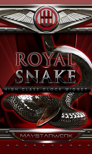 royal snake clock widget