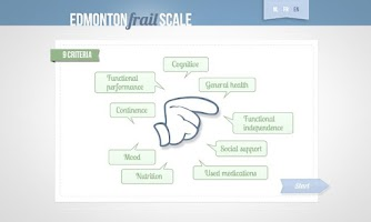 Screenshot of Edmonton Frail Scale