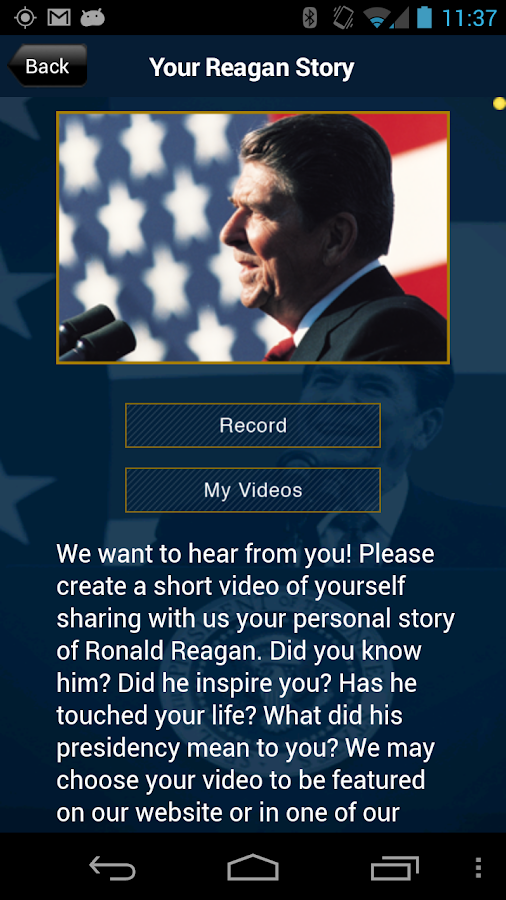 Ronald Reagan: Official App - screenshot