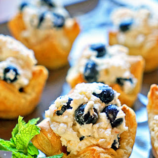 Easy Tangelo Ricotta and Blueberry Puffs.