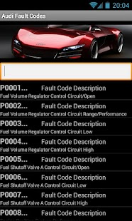 Audi Fault Codes - screenshot thumbnail