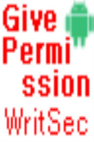 Give Permission WRITE_SECURE - screenshot