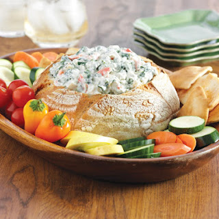 Classic Spinach Dip With Greek Yogurt.