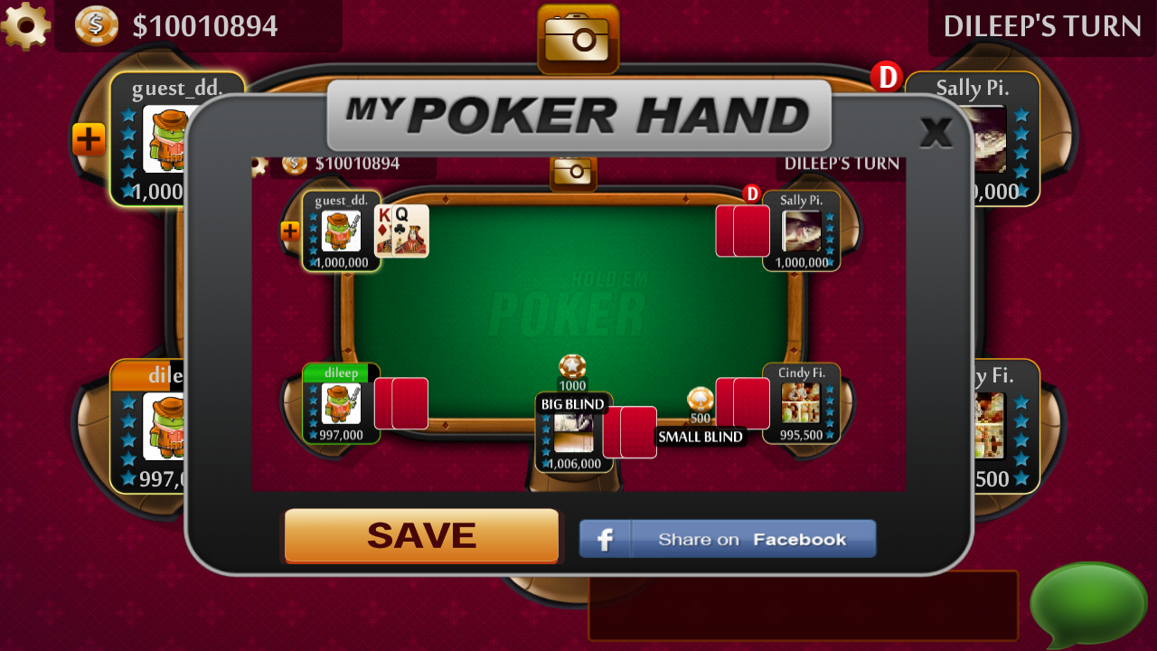 Texas HoldEm Poker LIVE - Free - screenshot