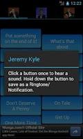 Screenshot of Jeremy Kyle SoundBoard