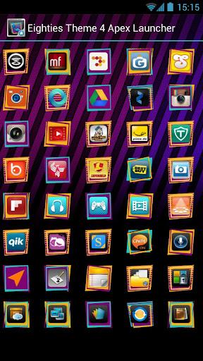 八十年代のテーマ4アペックスランチャー|玩個人化App免費|玩APPs