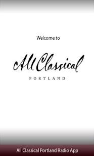 All Classical Portland Radio A- screenshot thumbnail