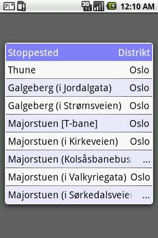 Pendlerkompis for Ruter- screenshot