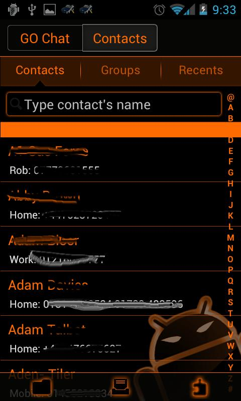 GOSMS SunsetOrange Theme -Free - screenshot