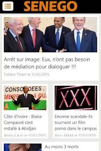 Senego: News in Senegal - screenshot thumbnail