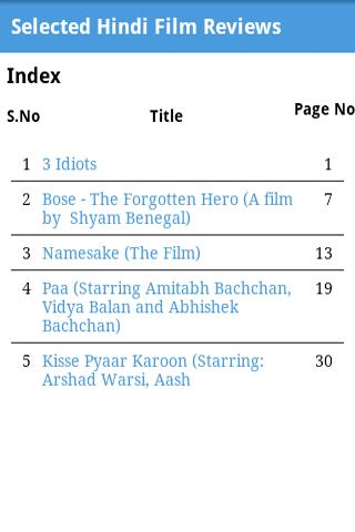 Selected HIndi Film Reviews - screenshot