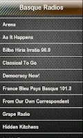 Screenshot of Basque Radio Basque Radios