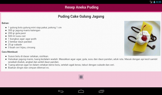 Resep Puding Screenshot