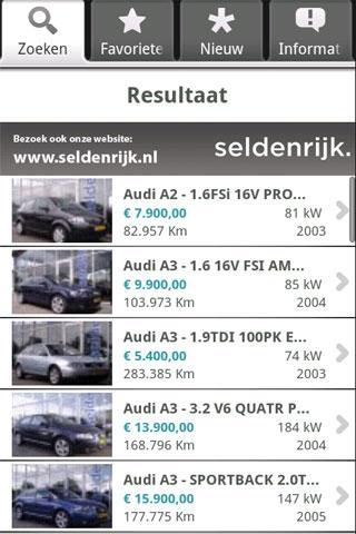 Seldenrijk OccasionApp - screenshot