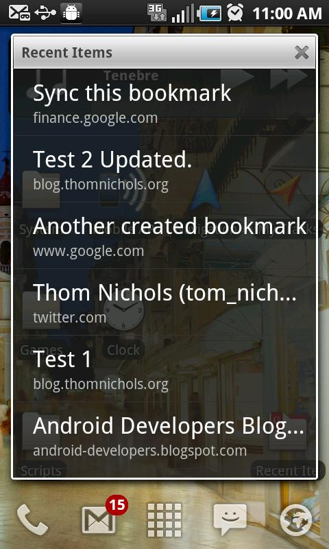 GMarks (Google Bookmarks) - screenshot