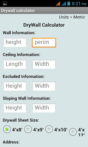 Dry Wall Calculator for Home
