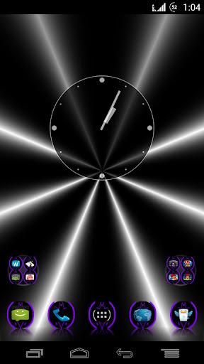 Purple Batcons Launcher Icons