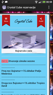 Crystal Cube rezervacije - screenshot thumbnail