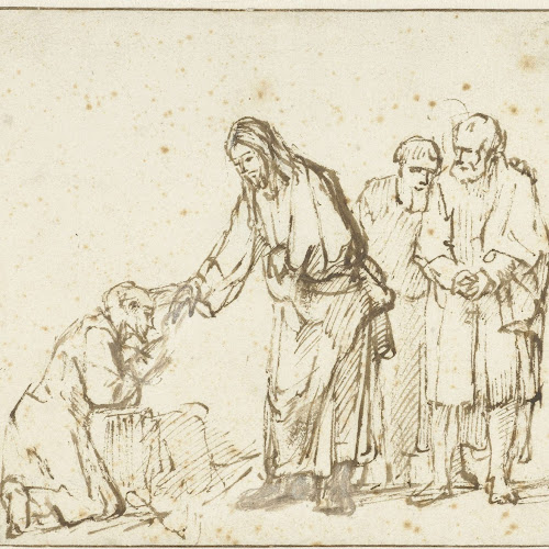 Christus geneest een melaatse, Rembrandt van Rijn, ca. 1650 - ca ...