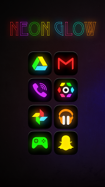 Neon Glow - Icon Pack - screenshot