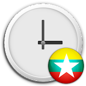 Myanmar Clock & RSS Widget