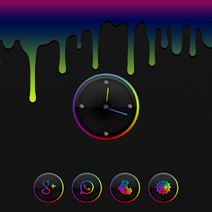 Aurorae Clock Widget APK