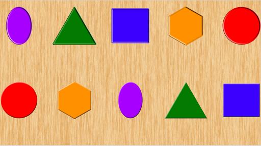 颜色和形状拼图 - 宝宝
