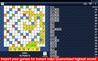 Screenshot of Auto Words With Friends Cheats