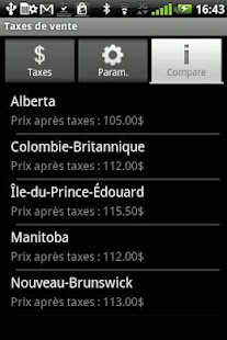 Taxes de vente - screenshot thumbnail