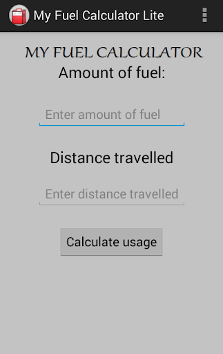 My Fuel Calculator Lite