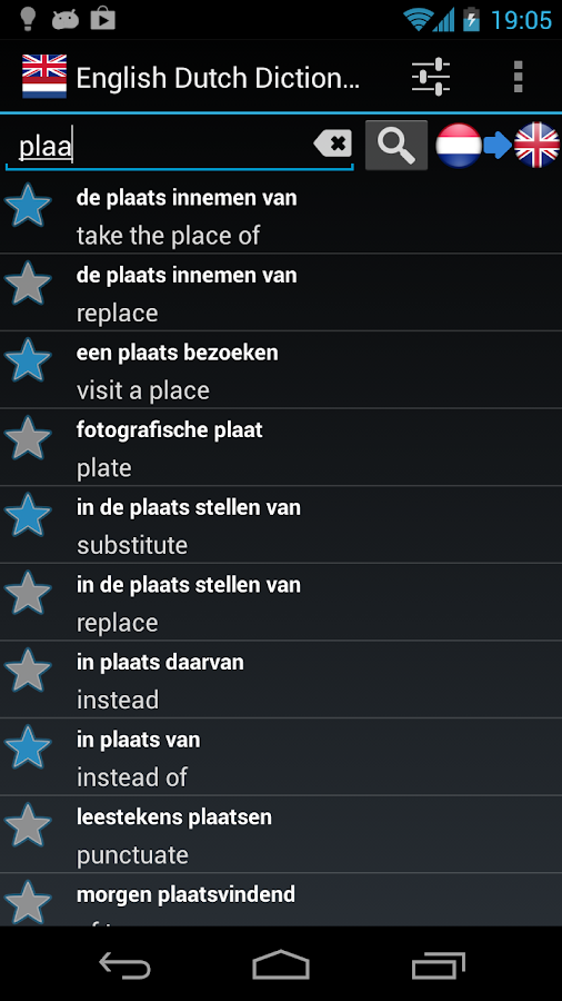 Offline English Dutch Dict. - screenshot