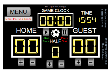 Real Cool Soccer Scoreboard - screenshot thumbnail