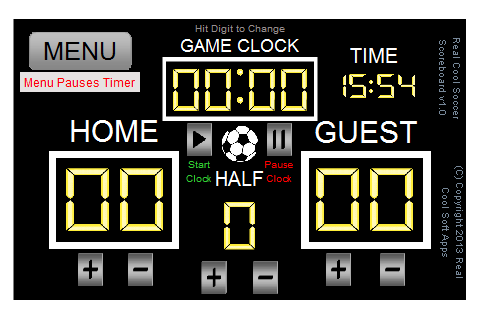Real Cool Soccer Scoreboard - screenshot