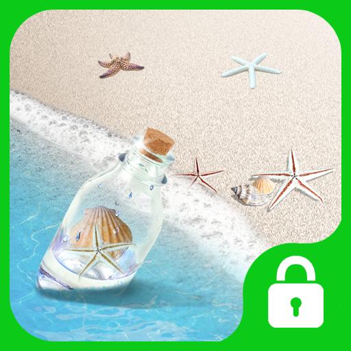 漂流瓶-简单锁屏主题 工具 LOGO-玩APPs