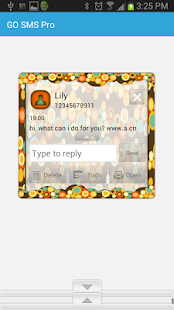GO SMS THEME/FallWeather- screenshot thumbnail