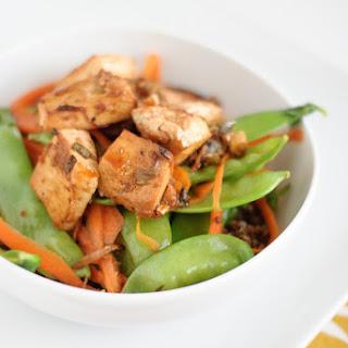 Roasted Tofu with Ginger Garlic Marinade