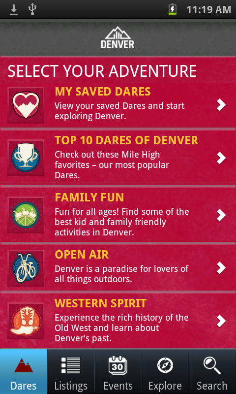 Official Visitor App to Denver - screenshot