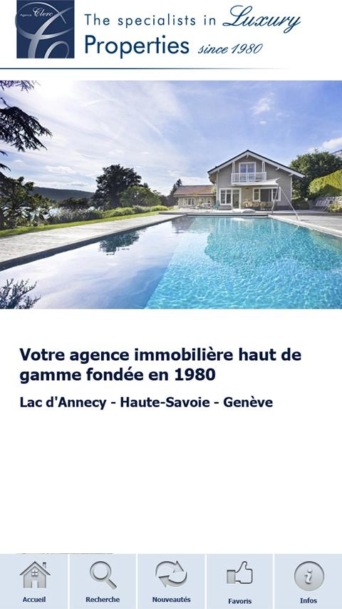 Agence Clerc- screenshot