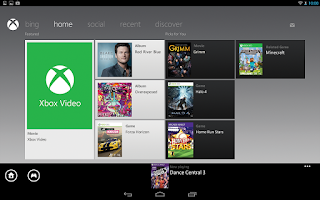 Screenshot of Xbox 360 SmartGlass