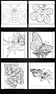 Butterflies coloring book- screenshot thumbnail