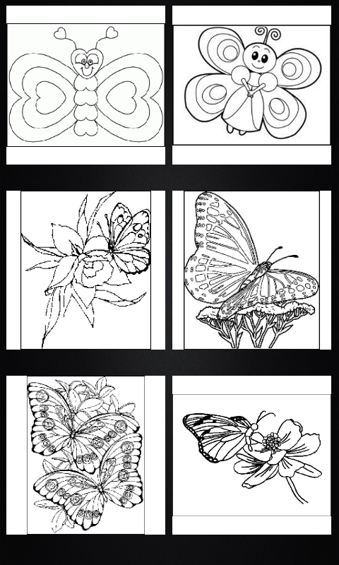 Butterflies coloring book- screenshot